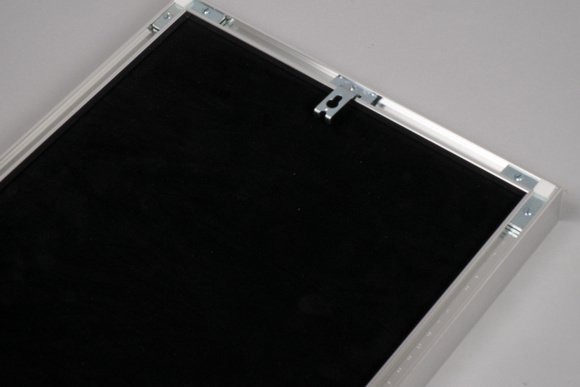 Aluminium framed HD acrylic - back