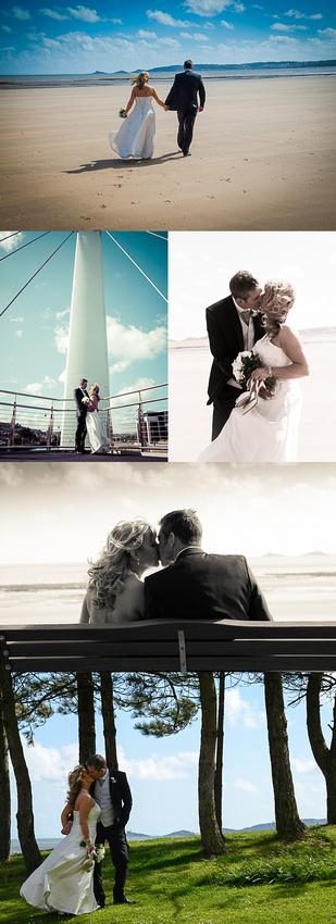 Swansea beach wedding